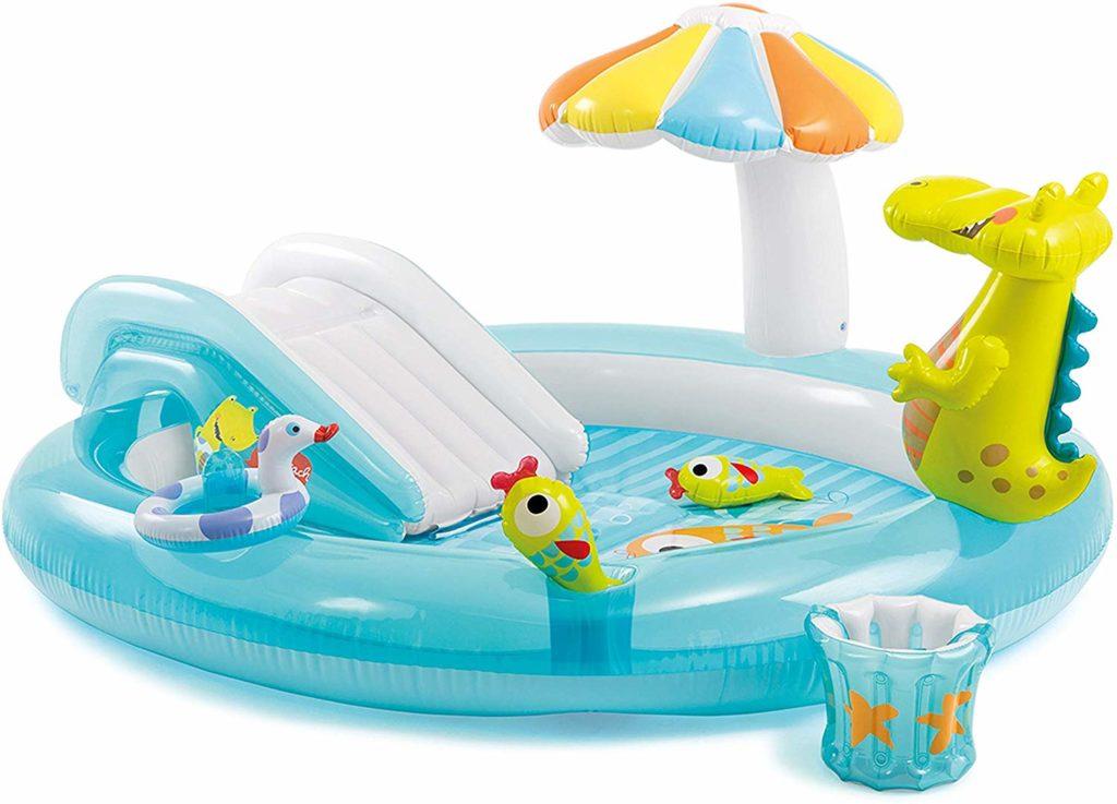Espace de jeux pour enfant gonflable avec décoration Alligator guide achat conseil commande en ligne pour équipement.