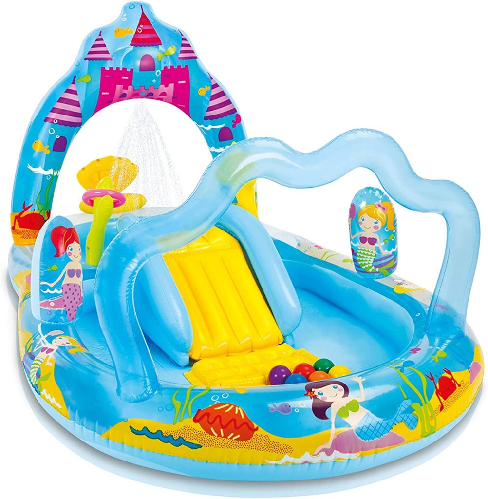 Air de jeux avec eau Intex style monde des sirénes 279 x 160 x 140 cm