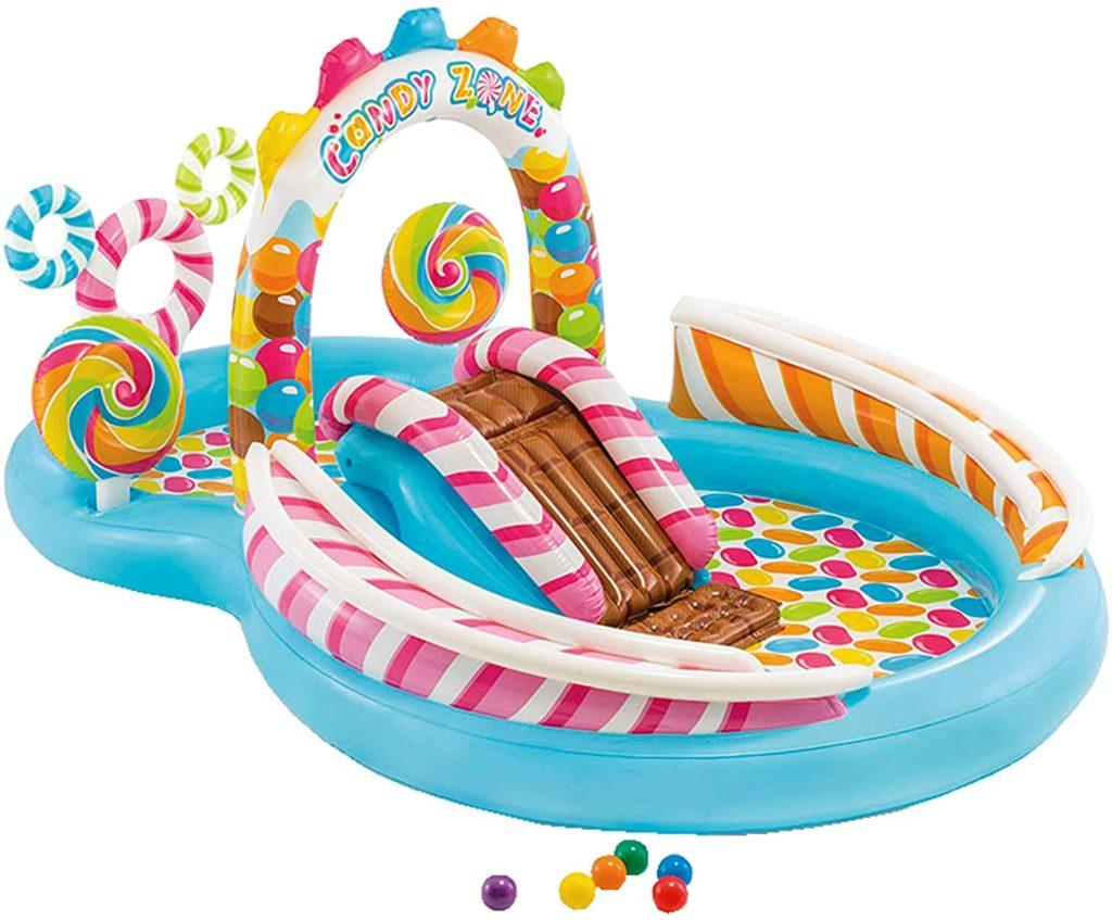 Espace dédié au jeux aquatique style royaume des bonbons 295 x 191 x 130 cm
