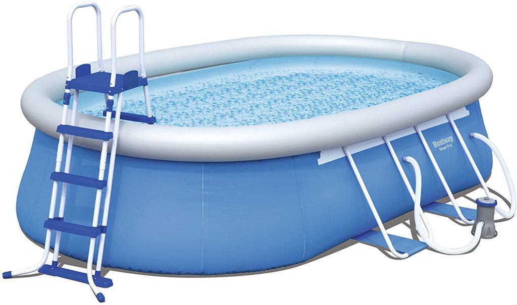Fast Set piscine autoportante grande taille par Bestway 56461 de forme ovale 549 x 366 x 122 cm