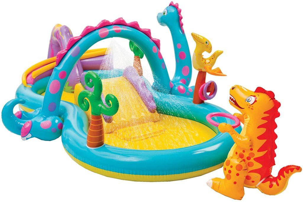 Zone dédié au jeux Intex, air gonflable aquatique dinausaure - 3,33 m x 2,29 m x 1,21 m